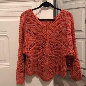 Sundance Catalog Burnt Orange Sweater